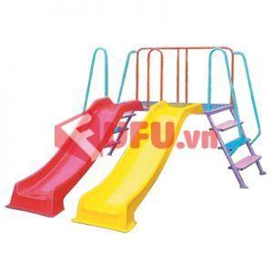 cầu trượt đôi 2 máng -FF-CTMN07