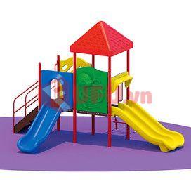 nhà chơi cầu trượt hình khu vườn-FF-NCCT18 (2)